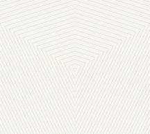 As-Creation Daniel Hechter 6, 37522-1 Geometrikus grafikus designminta fehér finom ezüstfényű vonalak tapéta