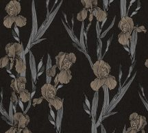 As-Creation Daniel Hechter 6, 37526-1 Natur Virágos díszítóminta fekete ezüstszürke barna tapéta