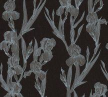 As-Creation Daniel Hechter 6, 37526-2  Natur Virágos díszítóminta fekete ezüstszürke szürkésbarna tapéta