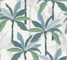 As-Creation Geo Nordic 37530-1 Natur trópusi pálmaliget fehér zöld kék szürke tapéta