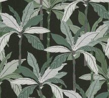 As-Creation Geo Nordic 37530-3 Natur trópusi pálmaliget fekete zöld árnyalatok fehér tapéta