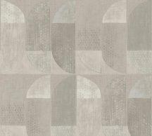 As-Creation Geo Nordic 37531-4 Geometrikus grafikus felezett ovális síkidomok krém bézs barna szürke szürkésbarna tapéta
