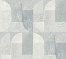 As-Creation Geo Nordic 37531-5 Geometrikus grafikus felezett ovális síkidomok szürke árnyalatok fehér tapéta