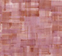 As-Creation Geo Nordic 37532-3 Natur törléstechnikával kialakított széles ecsetvonás minta rózsaszín lila piros és barna árnyalatok tapéta