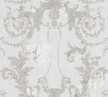 As-Creation History of Art 37648-1 Természetes hangulatú barokk díszítőminta szürkésfehér szürke ezüst tapéta