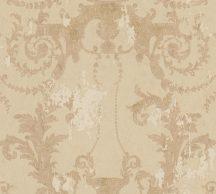 As-Creation History of Art 37648-3 Természetes hangulatú barokk díszítőminta bézs barna sárgásbarna arany tapéta