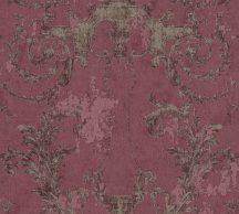 As-Creation History of Art 37648-4 Természetes hangulatú barokk díszítőminta burgundi lila bronz tapéta