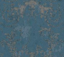 As-Creation History of Art 37648-5 Természetes hangulatú barokk díszítőminta kék árnyalatok ezüst tapéta