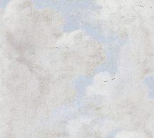 As-Creation History of Art 37649-3 Vintage minta repedezett vakolat alapon törtfehér szürke bézs világoskék tapéta