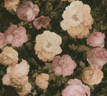 As-Creation History of Art 37650-1 Virágvarázs virágos díszítőminta fekete zöld rózsaszín barna tapéta