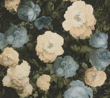 As-Creation History of Art 37650-2  Virágvarázs virágos díszítőminta sötétzöld zöld árnyalatok kék krém barna tapéta