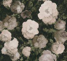 As-Creation History of Art 37650-3  Virágvarázs virágos díszítőminta sötétzöld/fekete szürkésbarna zöld krém bézs tapéta