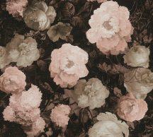 As-Creation History of Art 37650-4  Virágvarázs virágos díszítőminta fekete rózsaszín szürke barna rosé tapéta