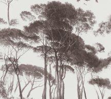 As-Creation History of Art 37651-1 Natur természeti kép fák - facsoprt krémfehér barna árnyalatok tapéta
