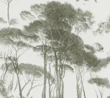 As-Creation History of Art 37651-2 Natur természeti kép fák - facsoprt krémfehér zöld árnyalatok tapéta