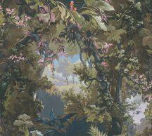As-Creation History of Art 37652-2 Natur természeti kép egyedi erdő ábrázolás zöld barna fekete szines tapéta