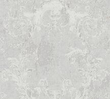 As-Creation History of Art 37653-1 Természetes hangulatú barokk díszítőminta világos szürke fehér szürke árnyalatok tapéta