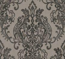 As-Creation New Life 37681-3 Klasszikus barokk díszítőminta szürke fekete ezüstszürke fémesen fénylő mintafelület tapéta