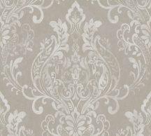As-Creation New Life 37681-4 Klasszikus barokk díszítőminta szürke törtfehér ezüst fémesen fénylő mintafelület tapéta