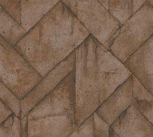 As-Creation Industrial 37741-1 Natur/Ipari stílus illeszkedő betonlapok barna árnyalatok fémes hatás tapéta