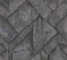 As-Creation Industrial 37741-2 Natur/Ipari stílus illeszkedő betonlapok sötétszürke antracit fémes hatás tapéta