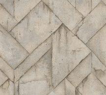 As-Creation Industrial 37741-4 Natur/Ipari stílus illeszkedő betonlapok szürkésbézs szürke árnyalatok tapéta