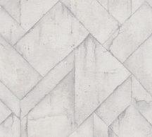 As-Creation Industrial 37741-5 Natur/Ipari stílus illeszkedő betonlapok világosszürke árnyalatok fehér tapéta