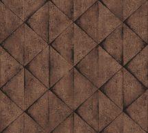 As-Creation Industrial 37742-4 Geometrikus Grafikus háromszögek 3D barna árnyalatok fekete tapéta