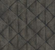 As-Creation Industrial 37742-5 Geometrikus Grafikus háromszögek 3D sötétszürke antracit tapéta