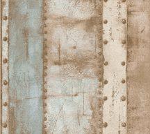 As-Creation Industrial 37743-1 Natur/Ipari stílus szegecselt vaslemezek krém bézs barna kék tapéta