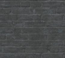As-Creation Industrial 37747-5 Natur/Ipari stílus téglafal sötétszürke antracit tapéta
