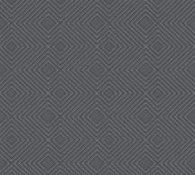 As-Creation Attractive 37758-1 Grafikus 3D rombuszminta sötétszürke antracit ezüst fémes hatás tapéta