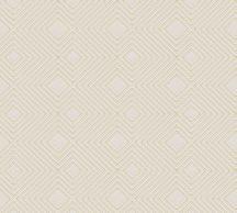 As-Creation Attractive 37758-2 Grafikus 3D rombuszminta krém arany fémes hatás tapéta