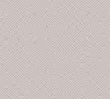 As-Creation Attractive 37758-3 Grafikus 3D rombuszminta szürkésbarna ezüst fémes hatás tapéta