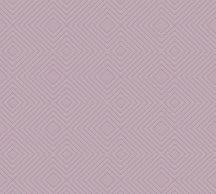 As-Creation Attractive 37758-4 Grafikus 3D rombuszminta lila ezüst fémes hatás tapéta