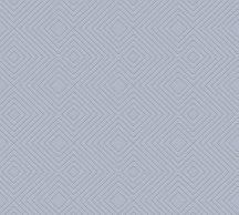 As-Creation Attractive 37758-6 Grafikus 3D rombuszminta kék/szürkéskék fémes hatás tapéta