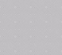 As-Creation Attractive 37758-7 Grafikus 3D rombuszminta szürke szürkésbarna ezüst fémes hatás tapéta