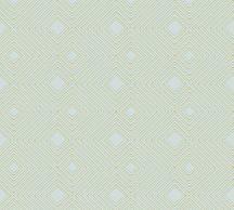 As-Creation Attractive 37758-8 Grafikus 3D rombuszminta zöld szürkészöld arany fémes hatás tapéta