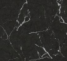 As-Creation Metropolitan Stories II, 37855-2 Natur márványminta antracit fekete ezüstfehér fényes sima mintafelület tapéta