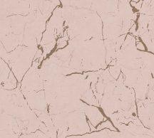 As-Creation Metropolitan Stories II, 37855-4 Natur márványminta rózsaszín bézs arany fényes sima mintafelület tapéta