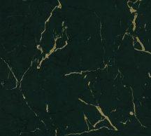 As-Creation Metropolitan Stories II, 37855-5 Natur márványminta sötétzöld fekete arany fényes sima mintafelület tapéta