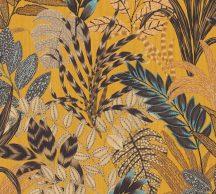 As-Creation Metropolitan Stories II, 37860-1 Natur lenyűgöző szines levélmintázat sárga barna kék szines tapéta