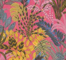 As-Creation Metropolitan Stories II, 37860-2 Natur lenyűgöző szines levélmintázat pink sárga szines tapéta
