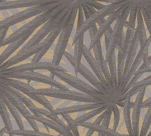 As-Creation Metropolitan Stories II, 37861-1 Natur Trópusi stilizált pálmalevelek szürke árnyalatok arany fémes hatás tapéta