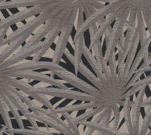 As-Creation Metropolitan Stories II, 37861-2 Natur Trópusi stilizált pálmalevelek szürke árnyalatok bézs fekete fémes csillogó hatás tapéta
