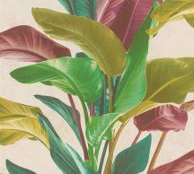 As-Creation Metropolitan Stories II, 37862-1 Natur nagyformátumú levelek krém zöld árnyalatok mályva szines tapéta