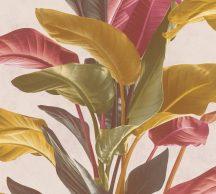 As-Creation Metropolitan Stories II, 37862-2  Natur nagyformátumú levelek krém zöld árnyalatok narancs mályva szines tapéta