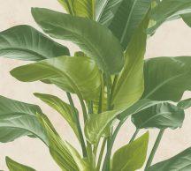 As-Creation Metropolitan Stories II, 37862-3  Natur nagyformátumú levelek krém zöld árnyalatok tapéta