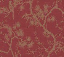 As-Creation Metropolitan Stories II, 37867-1 Natur virágzó japán cserje bordó/piros aranybarna fémes hatás tapéta