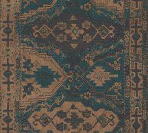 As-Creation Metropolitan Stories II, 37868-2 Etno folklór tradicionális keleti díszítőminta petrolkék aranybarna fekete tapéta